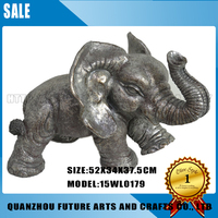 Resin antique elephant statue For Garden Home Decoration (15WL0179)