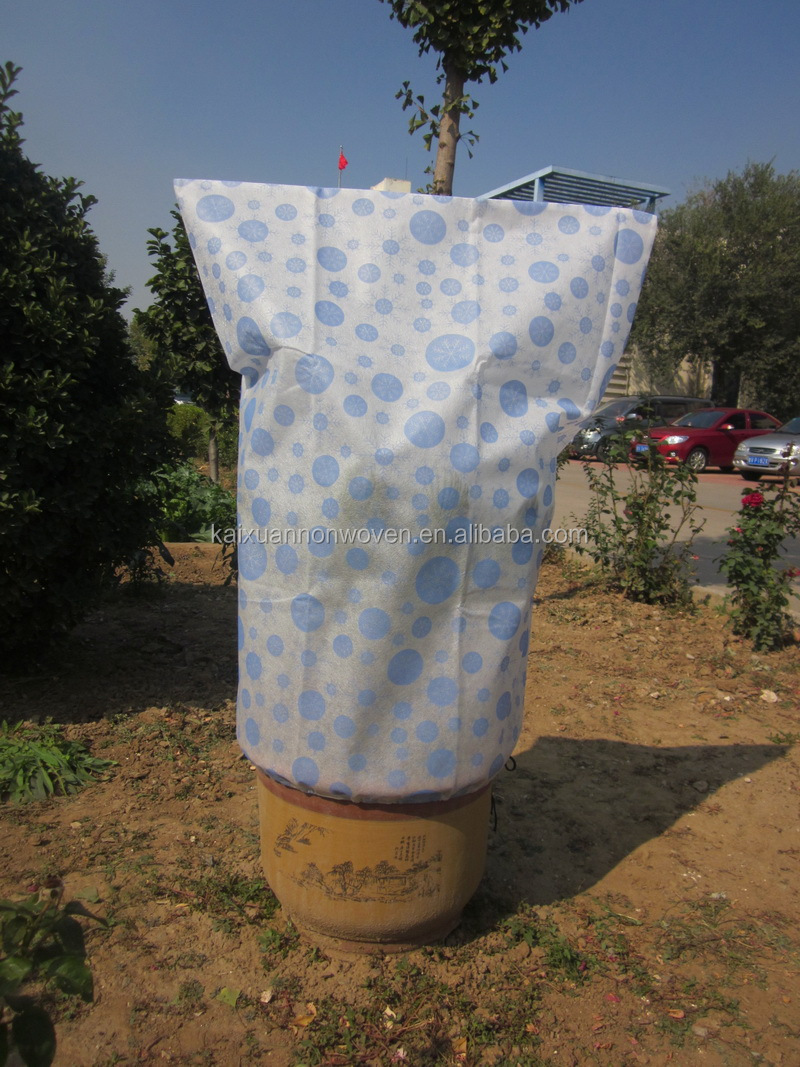 [BSCI Factory] printed PP spunbonded nonwoven fabric frost protection bag,planting green bag/print fabric/pp fabric