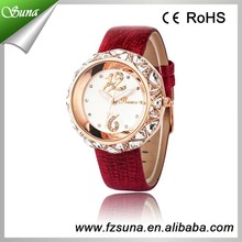 Wholesale Price High Quality Genuine Leather Brand Name Ladies Watches