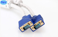 7.5M White VGA cable with gold plated