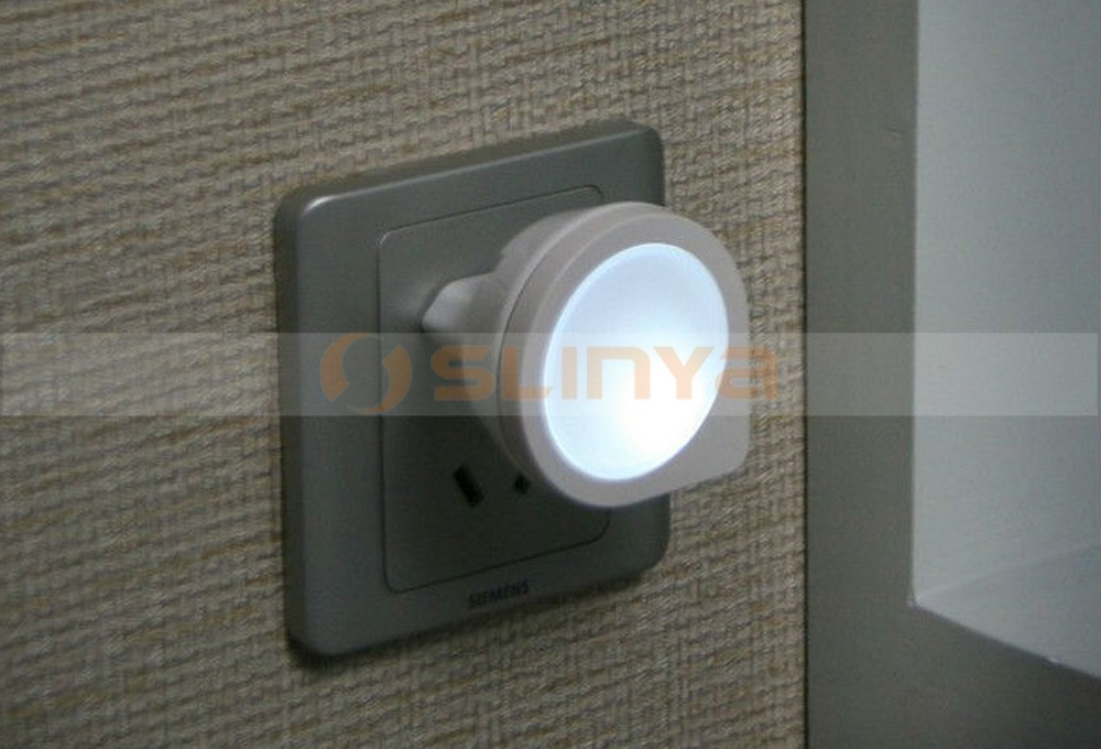 AC110-220V EU Plug Light-control Led Sensor Light Bedside Lamp
