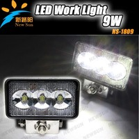 9w spot/floor magnetic base LED working lights for heavy duty off road truck