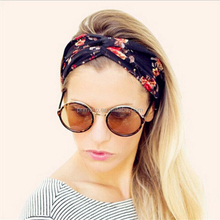 Fashion Hair Band Turban Headband Multicolored Flowers Crossed Elastic Headbands for Women hair accessories