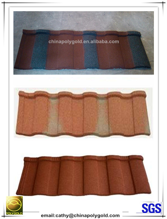 color roof tile price/stone coated steel roof tile/constructional material