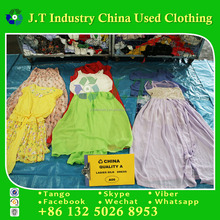 Used clothes guangzhou with cheap price ladies silk dress