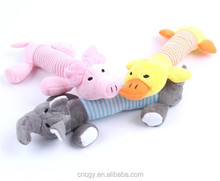 New Dog Toys Pet Puppy Chew Squeaker Squeaky Plush Sound Duck Pigs & Elephants Toys squeaky pig pink toy
