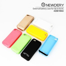 Wireless Power Case Charger Battery Bank Backup Case Cover For iPhone 5/5s/5c/SE Convenient Power Case