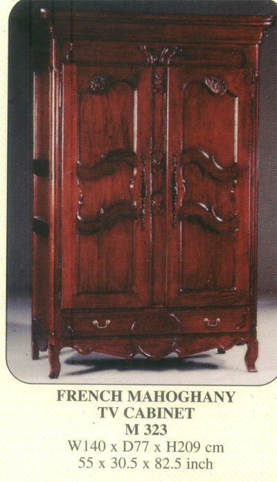 French Mahogany TV Cabinet Indoor Furniture