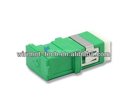 SC APC Single Mode Simplex Fiber Optic Adapter With Dust Shutter