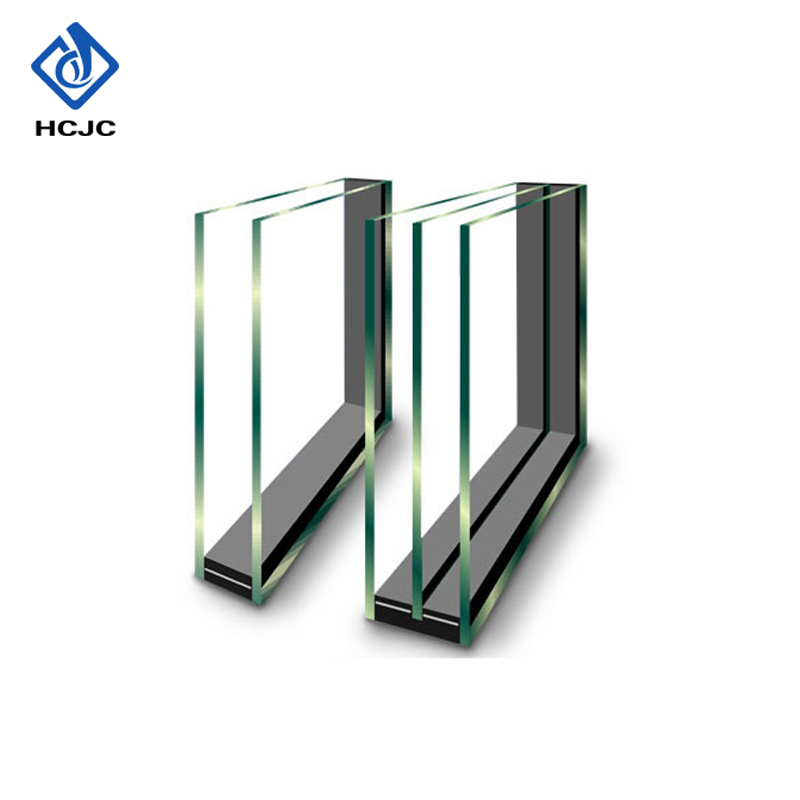 Tempered clear float insulated double glazing glass prices for window