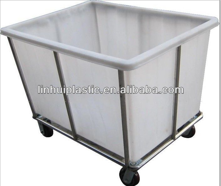Rotomolded clothing heavy duty Plastic recycle bins with wheels