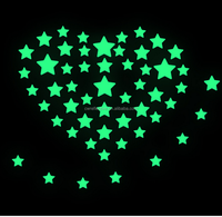 high visible rom decoration glow in the dark stars