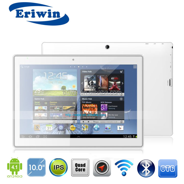 Bulk selling 10 inch QUAD Core CPU IPS Mini HDMI Ver 1.3 Output (Support 3D Vision) 1080p HD tablet pc