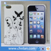 Stylish butterfly pattern imd pc plastic phone case for iphone 5