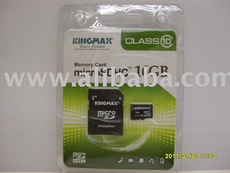 Kingmax 16GB Micro SDHC Class 10 Flash Device Card