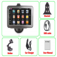 Wince 6.0 System 5 Inch Auto Car GPS Navigation Sat Nav 4GB with Wireless Rearview Camera