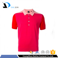 Guangzhou Daijun oem men good quality plain breathable color combination polo t-shirt