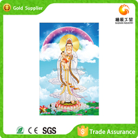 Factory supply painting and calligraphy a buddism godness Guanyin diamond painting religion embroidery painting by numbers