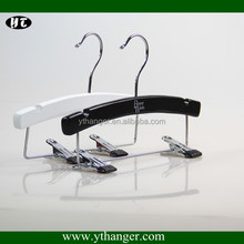 FW-1505 Small wood hanger with clips for hair extension