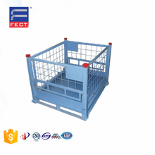 Collapsible Stackable Steel Box Pallet Warehouse Steel Cage Box Metal Stillage