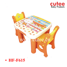 Best Price PP PE Baby Kids Furniture Two Seater Table And Chair Set For Studying Writing