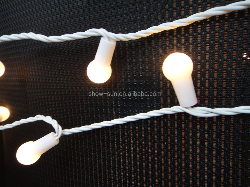 LED christmas string light white berry 160LED length:16m christmas party holiday decoration