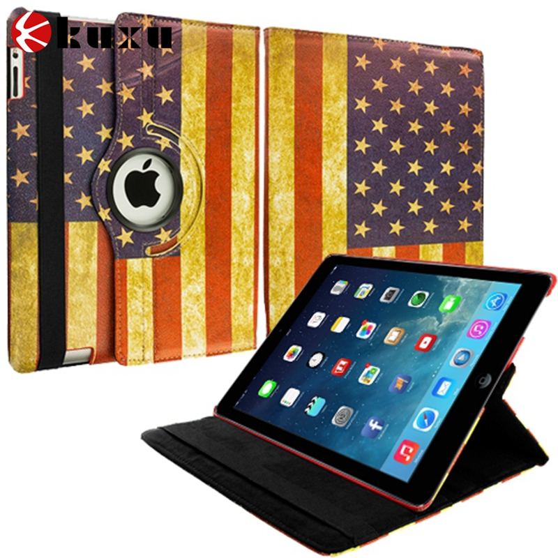 wholesale Luxury leather flip wallet cover accessories for ipad case