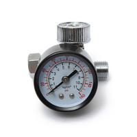 HVLP Pneumatic Spray Gun Air Regulator Pressure Gauge Auto Paint Adjustable Regulating Gauge Air Tool