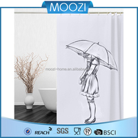 Home Goods White Fabric Shower Curtain
