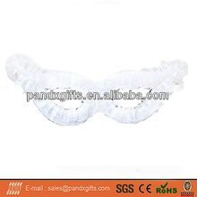 Halloween decoration white bud silk eye mask for party and canival