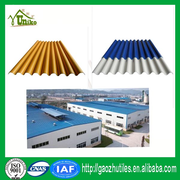weather resistance durable longlife usage corrugated upvc roof tile/ trapezoidal pvc roofing sheets