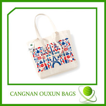 custom high quality eco printable canvas cotton bags