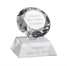 personalized diamond crystal award trophies MH-NJ0194