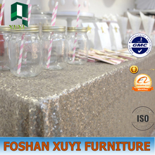 Decoration modern banquet use wedding sequin table linens