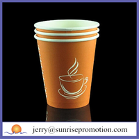 Disposable logo customized PE coated paper cup blank