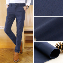 104gsm 50*50/152x80 cotton Poplin Dark blue men's pants fabric garment fabric
