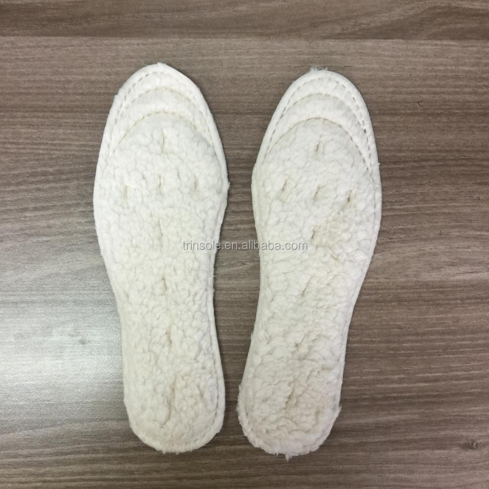 Breathable warm wool insoles warm inner shoe pads