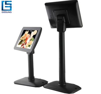 hot sale 7 inch 8 inch usb customer display monitor with adjustable pole support