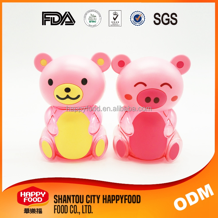 HAPPYFOOD Jelly Pig Plastic Animal Shaped Containers