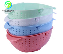 Plastic fruit vegetable washing basket plastic water drain storage basket