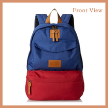 Waterproof Canvas Blue Red Contrast Color Backpack