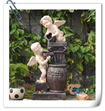 Angels Spilling Urns Outdoor Fairy Water Fountain
