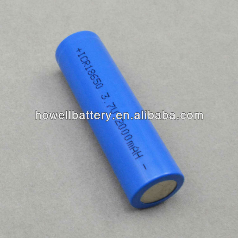 Rechargeable Lithium Ion Battery 3.7v with Capacity 2000mAh
