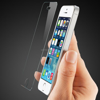 Wholesale 9H hardness 0.33mm 2.5D tempered glass screen protector for iphone 5