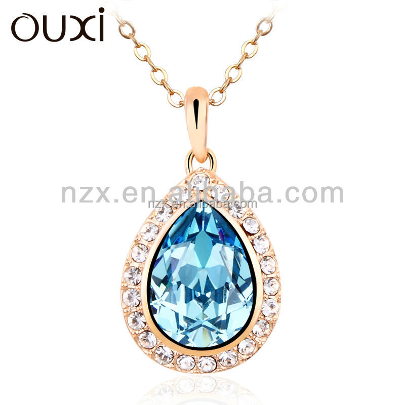 OUXI Women's newest crystal necklace 10580