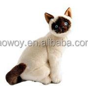 logo imprinted embroidery plush stuffed Siamese Cat sitting soft beanbag mascot t-shirt bandana bib tie ribbon animal toys 11