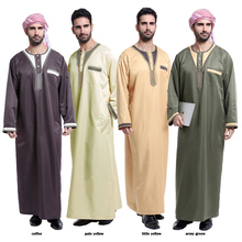 Dubai Abaya Wholesale Islamic Maxi Dress Abaya for men jubah abaya 2017