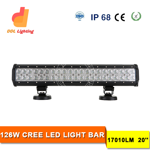 China made auto car accessories 20inch 126w Led Driving Light Bar