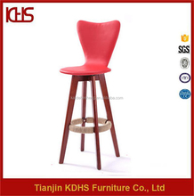 cheap durable restaurant high end wood high bar stools