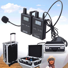 100 channels wireless walky talky from direct factory for training, conference, teaching, church, outside tour group